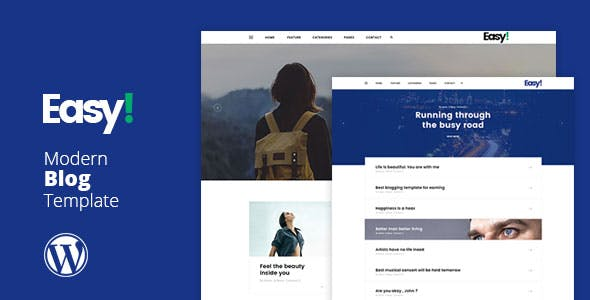 Easy - Minimal Blog WP Theme