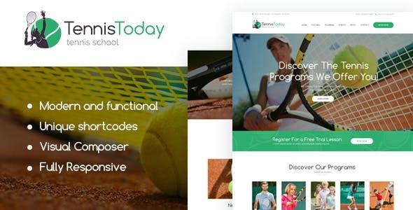 Tennis Today | Sport School & Events Theme