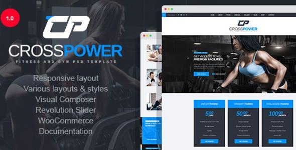 CrossPower - Sport Gym Fitness WordPress Theme