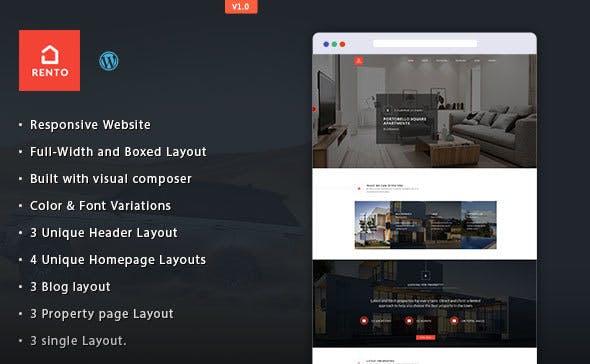 Real Estate WordPress Theme - Rento