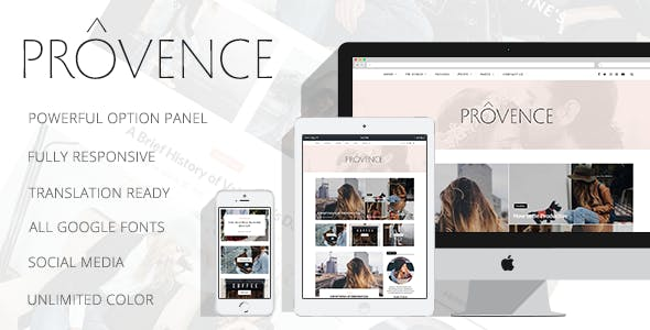 Provence - Smart Personal WordPress Blog Theme