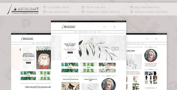 ArtsCraft - Personal WordPress Blog Theme