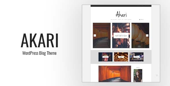 Akari - Elegant WordPress Blog Theme