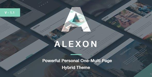 Alexon - Personal One-Multi Page Hybrid WP Theme