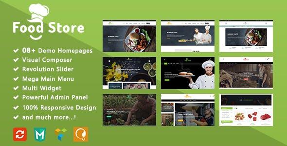 Food Store - Organic Responsive WooCommerce WordPress Theme