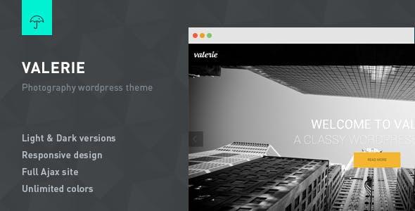 Valerie - Photography WordPress Theme