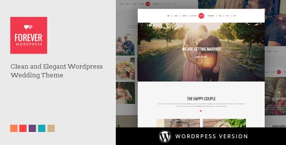 WP Forever - Responsive WordPress Wedding Theme