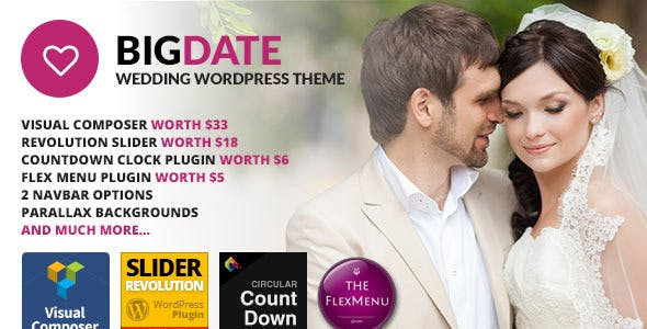 Big Date - Wedding WordPress Theme