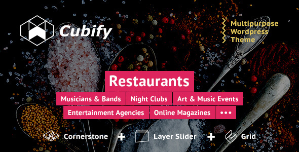 Cubify | Multi-purpose entertainment WordPress theme