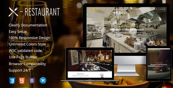 Restaurant - A Responsive WordPress Theme