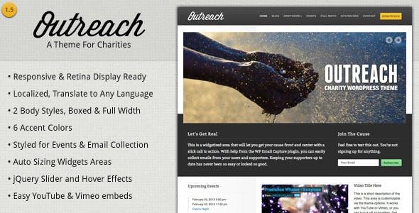 Outreach - Charity WordPress Theme