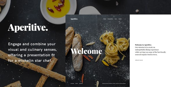 Aperitive - Restaurant/Bar/Food Blog WordPress Theme