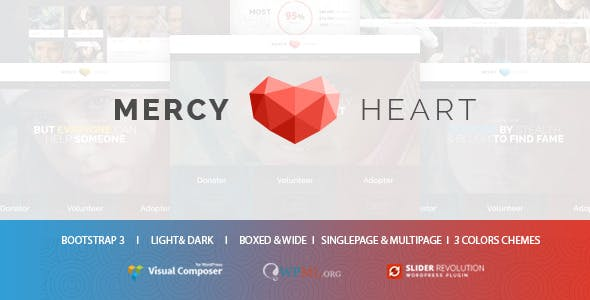 Mercy Heart - Modern Charity WordPress Theme