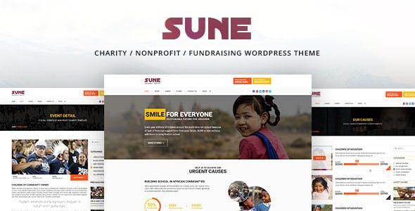 SUNE - Charity / Nonprofit / Fundraising WordPress Theme