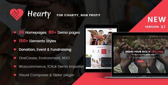 Charity WordPress | Hearty Charity
