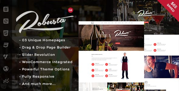 Robusta - Restaurant & Cafe WordPress Theme