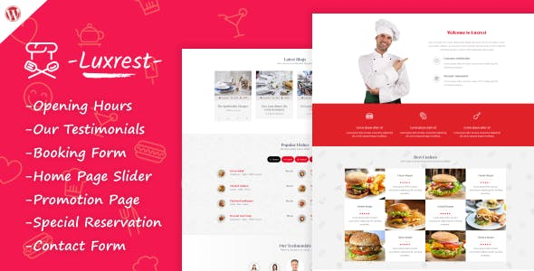 Luxrest - Restaurant & Cafe Theme