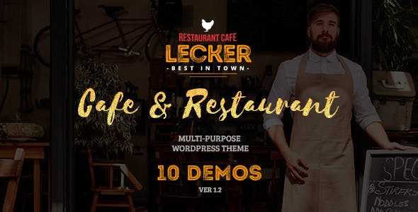 Cafe Restaurant WordPress Theme | Lecker Restaurant