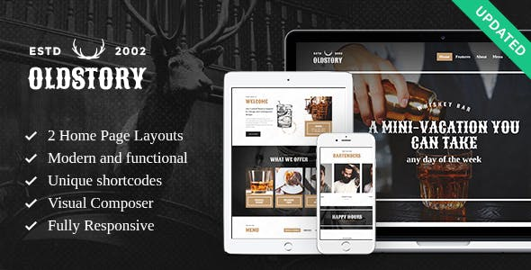 OldStory - Whisky Bar | Pub | Restaurant WP Theme