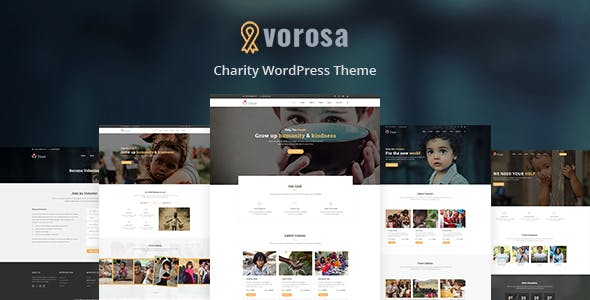 Vorosa - Charity Fundraising WordPress Theme