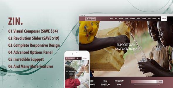 Zin - Multipurpose Nonprofit Theme