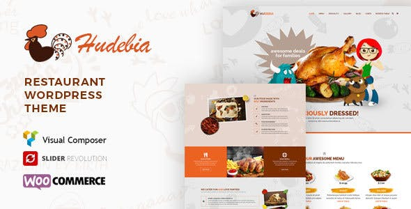 Hudebia - Restaurant WordPress Theme
