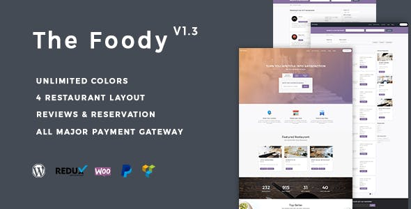 Thefoody - Multivendor Multiple Restaurant WordPress Theme