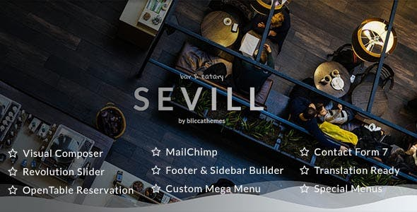 Sevill - Restaurant Cafe WordPress Theme