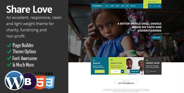 Charity ShareLove Fund Raising WordPress Theme
