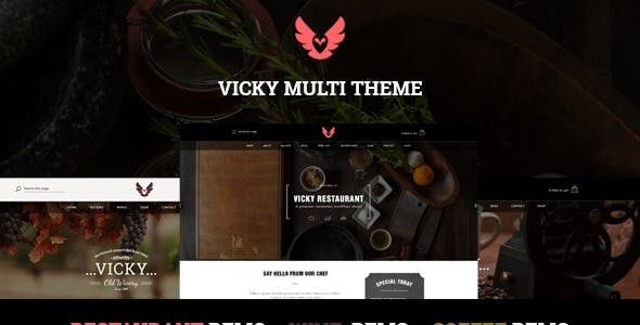 Vicky - WordPress Restaurant & Cafe Theme