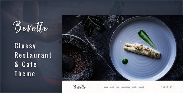 Bevette - classy restaurant & cafe theme