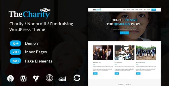 The Charity - Charity / Nonprofit / Fundraising WordPress Theme