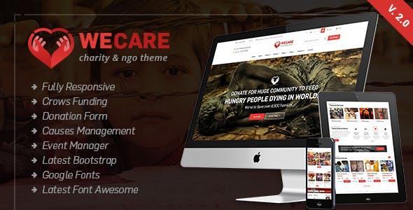 We Care - Charity WordPress Theme