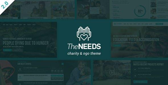 The Needs - Nonprofit, Charity, Crowdfunding WordPress Theme