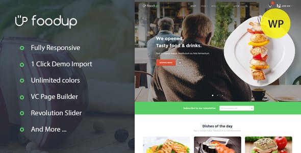 FoodUp — Food & Restaurant WordPress Theme