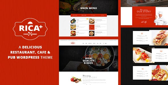 Rica Plus - A Delicious Restaurant, Cafe & Pub WP Theme