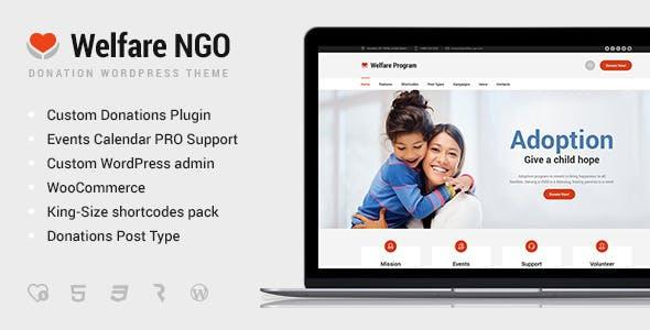 Welfare NGO - Nonprofit Organization Charity Theme