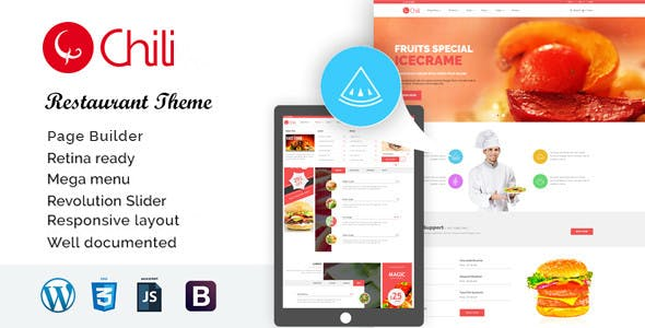 RedChili - WordPress Restaurant Theme