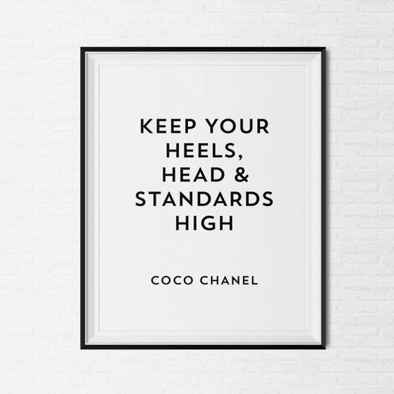 Meilleures Citations De Mode & Des Créateurs : Chanel Inspirational Quote by CityComfortsDC on Etsy