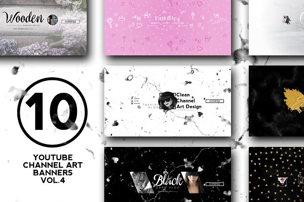 10 Youtube Channel Art Banners vol.4