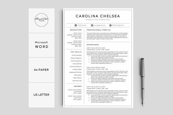 Resume/CV Template - CAROLINA