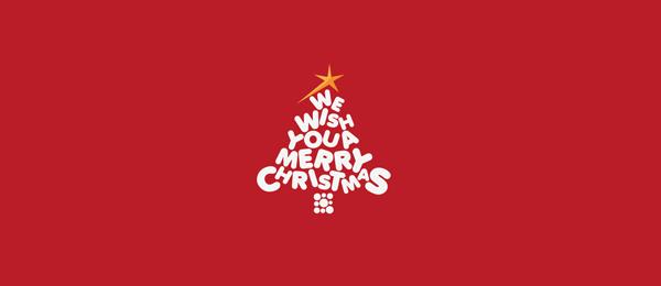 merry christmas tree logo 36