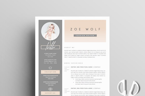 Resume Template 5pages | Dolce Vita