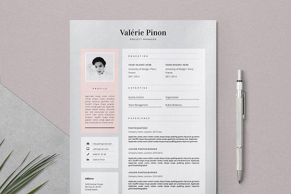 Resume Template 3 page / Valérie