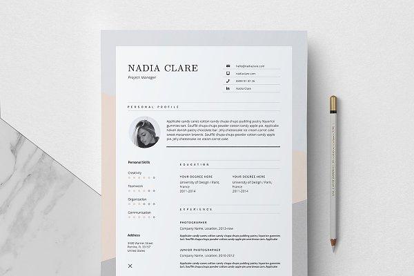 Editorial Resume Design / Nadia
