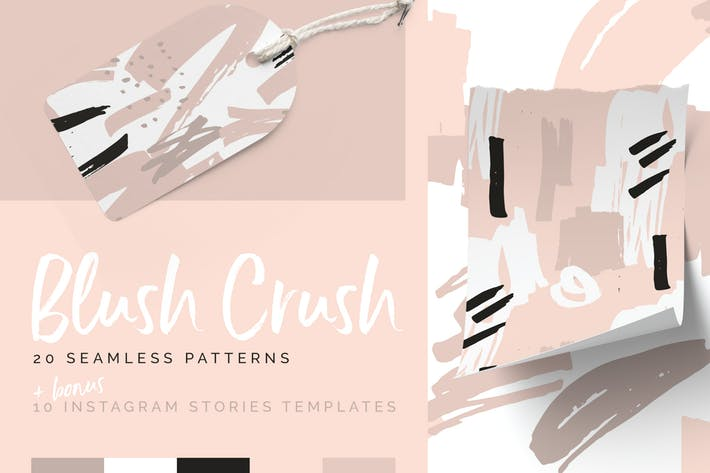 Blush Crush Patterns & Instagram Templates