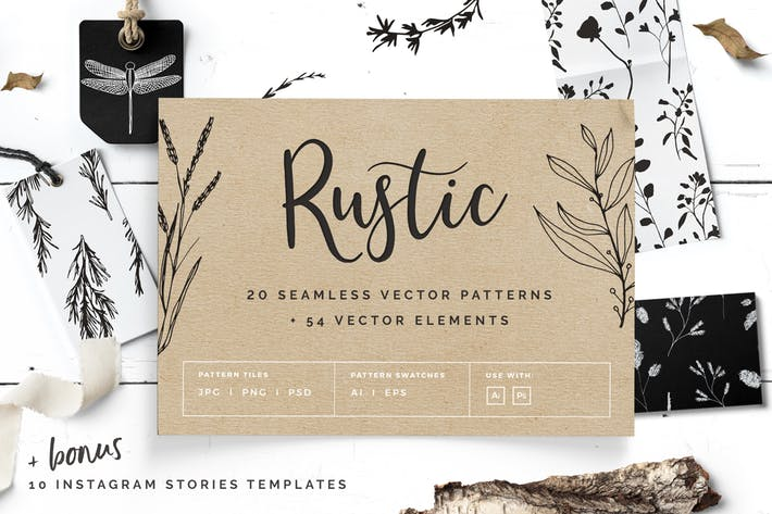 Rustic Patterns & Instagram Stories