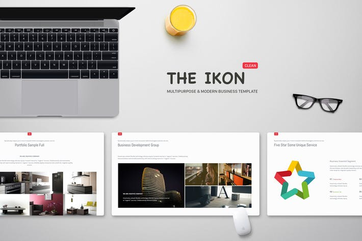 Ikon Multipurpose Powerpoint Template