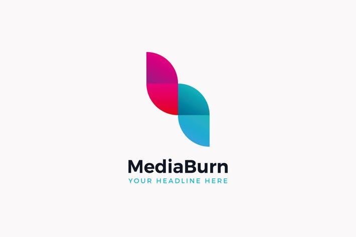 Media Burn Logo Template