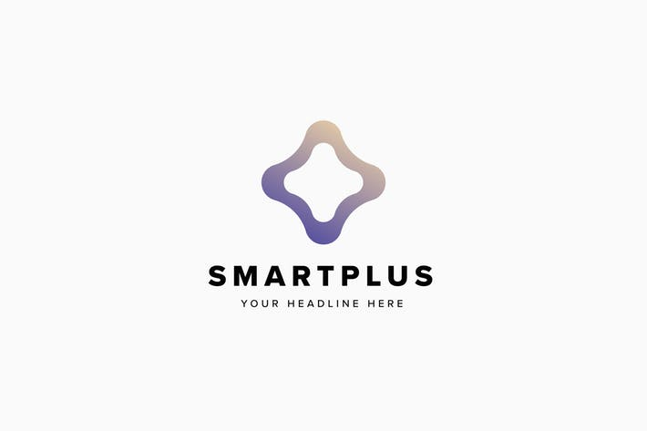 Smart Plus Logo Template
